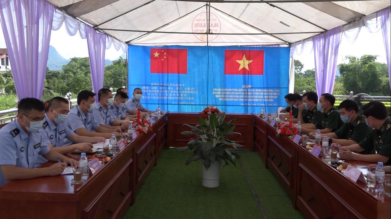 Quảng Hòa: Hội đàm giữa 6 Đồn Biên phòng (Việt Nam) và Chi đội quản lý biên giới Sùng Tả, Quảng Tây, Trung Quốc