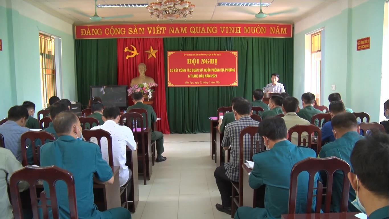 UBND huyện Bảo Lạc sơ kết công tác quân sự, quốc phòng địa phương