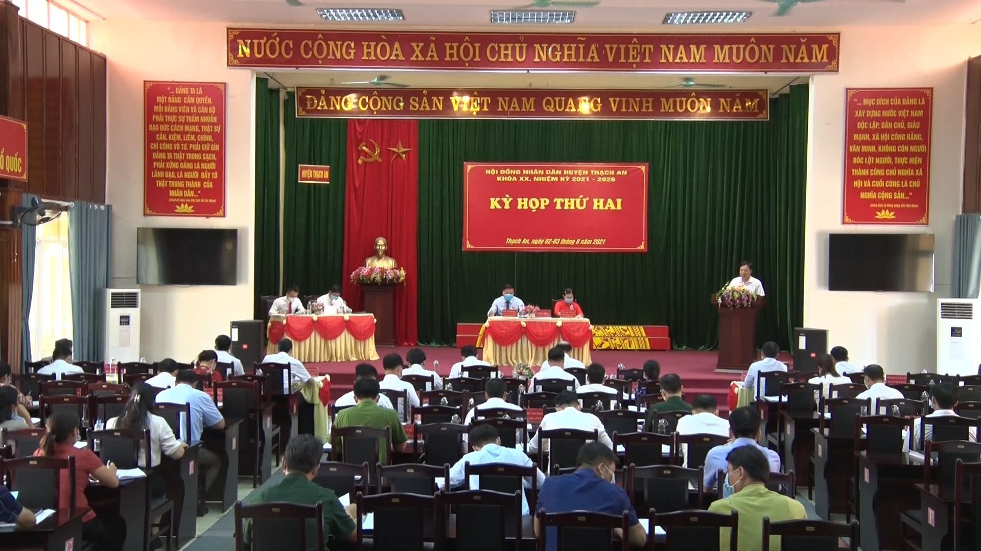 Thạch An: Tổ chức Kỳ họp thứ 2 HĐND huyện khóa XX, nhiệm kỳ 2021 - 2026