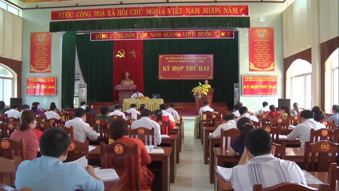 Kỳ họp thứ 2 HĐND huyện Bảo Lạc khóa XX, nhiệm kỳ 2021 - 2026