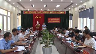 UBND huyện Quảng Hòa tổ chức Hội nghị giao ban thường kỳ tháng 7