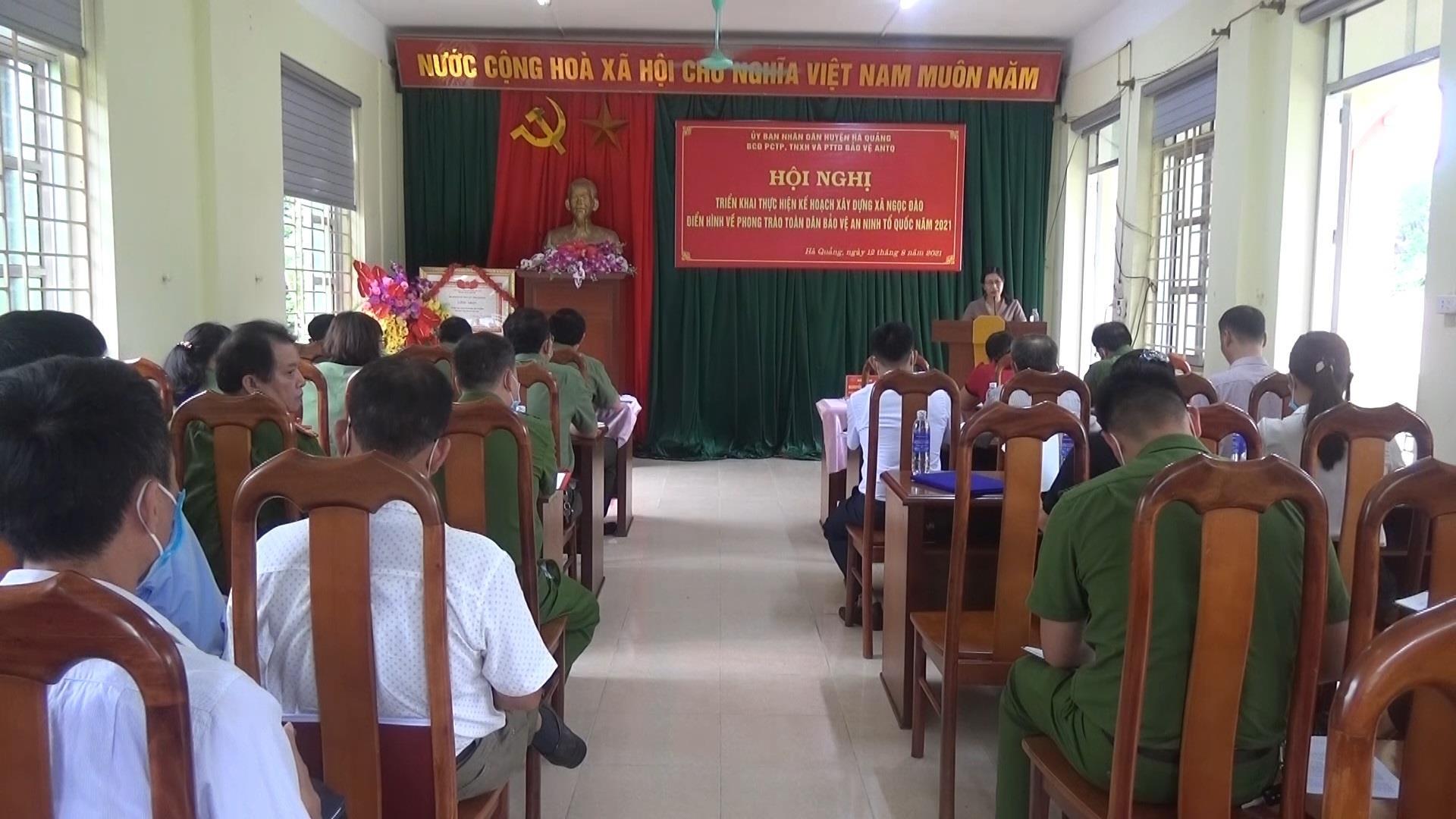 Hà Quảng: Hội nghị triển khai xây dựng xã điển hình về phong trào Toàn dân bảo vệ an ninh Tổ quốc