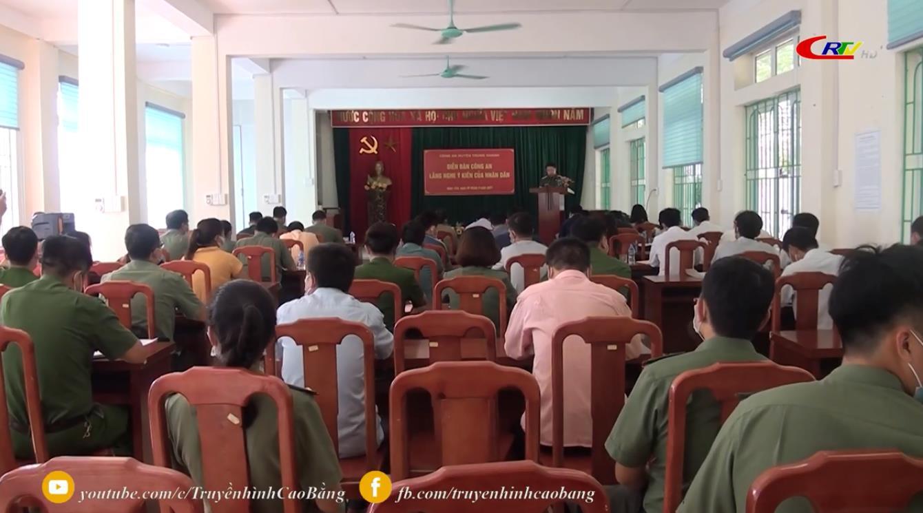 """Trùng Khánh: Diễn đàn """"Công an lắng nghe ý kiến của nhân dân"""""""