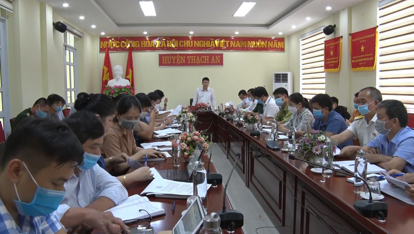Thạch An: UBND huyện tổ chức phiên họp mở rộng tháng 9/2021