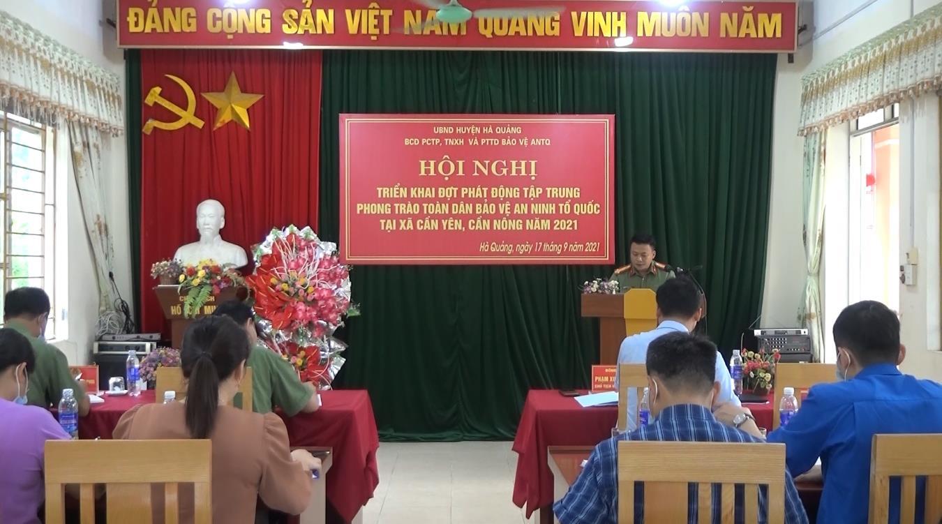 """Hà Quảng: Phát động phong trào """"Toàn dân bảo vệ ANTQ"""" tại xã Cần Yên và Cần Nông"""