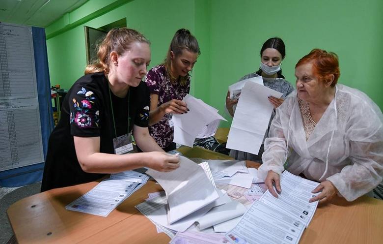 Bầu cử Hạ viện Nga: Đảng Nước Nga Thống nhất tạm dẫn đầu