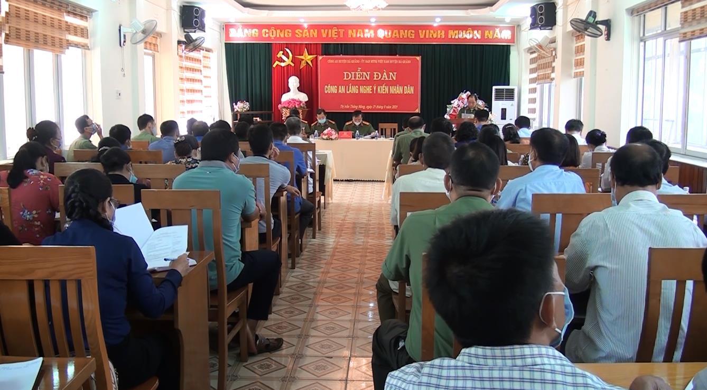 """Hà Quảng: Diễn đàn """"Công an lắng nghe ý kiến nhân dân"""""""