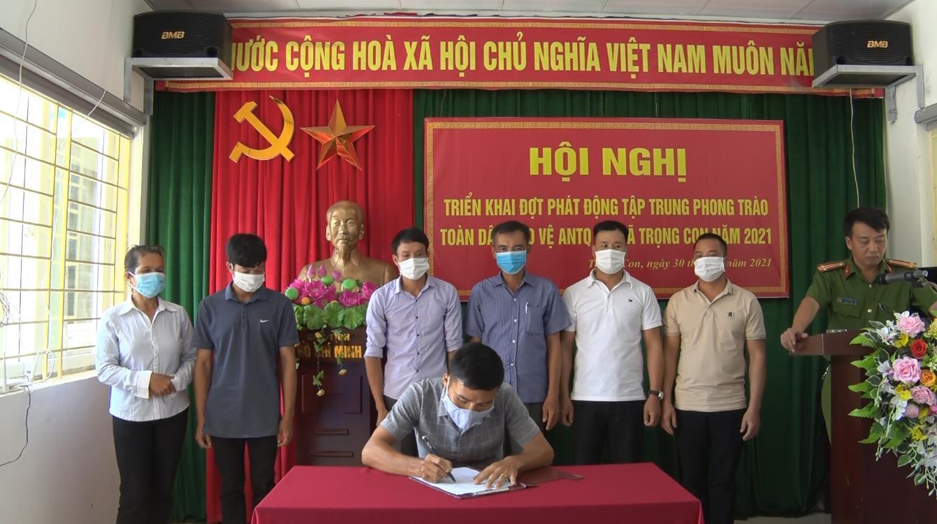 """Thạch An: Phát động phong trào """"Toàn dân bảo vệ an ninh Tổ quốc"""" tại xã Trọng Con"""