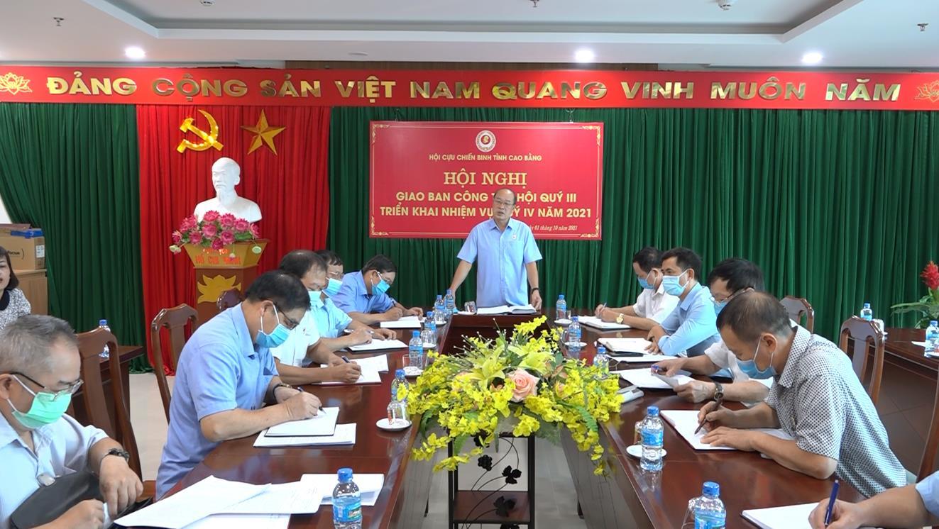 Hội CCB tỉnh: Triển khai nhiệm vụ quý IV năm 2021
