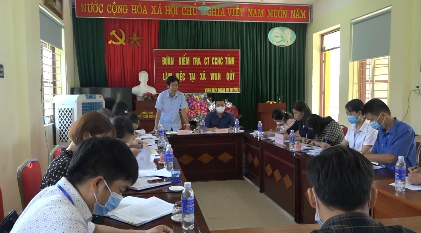 Kiểm tra cải cách hành chính tại huyện Hạ Lang