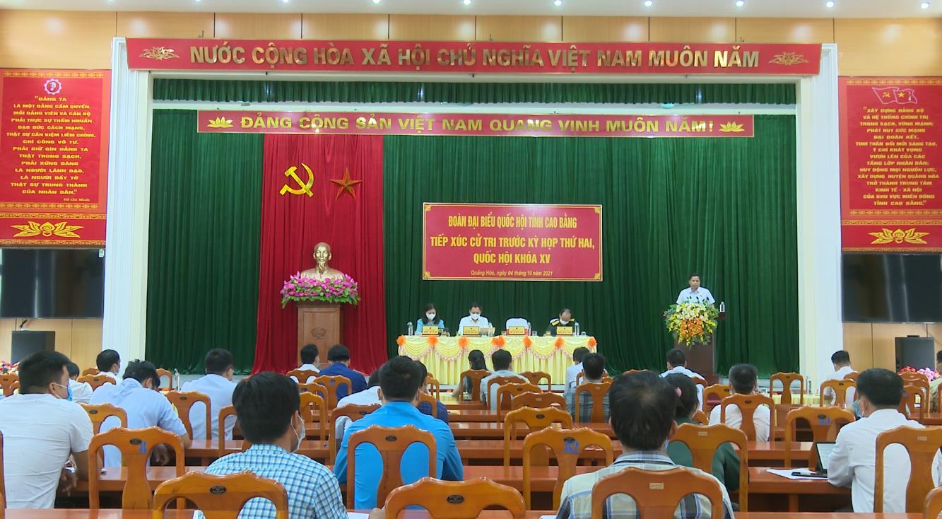 Đoàn đại biểu Quốc hội tỉnh tiếp xúc cử tri huyện Quảng Hòa