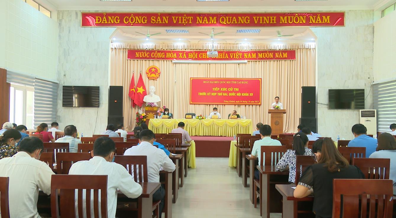 Đoàn đại biểu Quốc hội tỉnh tiếp xúc cử tri huyện Trùng Khánh