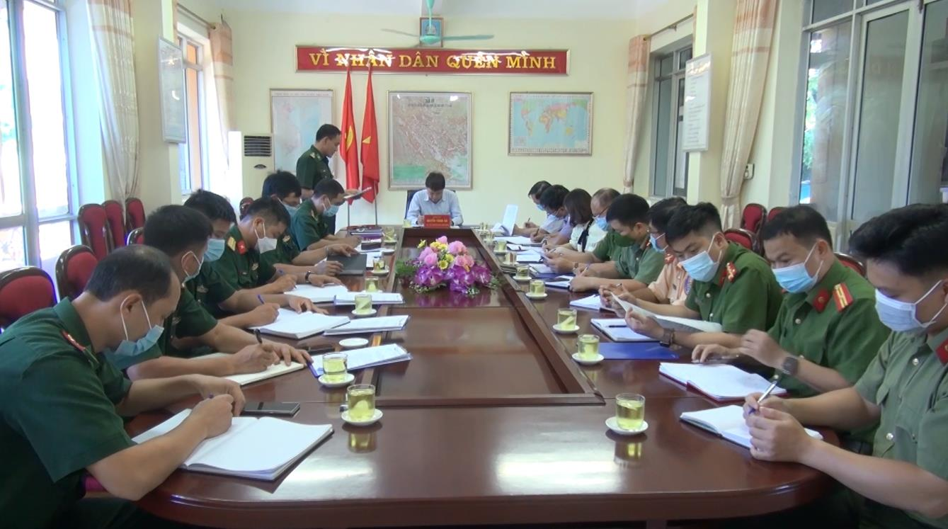 Quảng Hòa: Giao ban 3 lực lượng Công an, Biên phòng, Quân sự