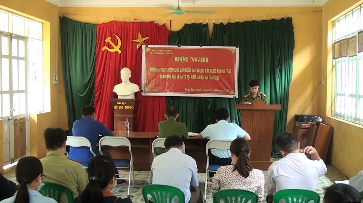 """Bảo Lâm: Triển khai cuộc vận động xây dựng phong trào """"Toàn dân bảo vệ an ninh Tổ quốc"""" tại xã Thái Sơn"""