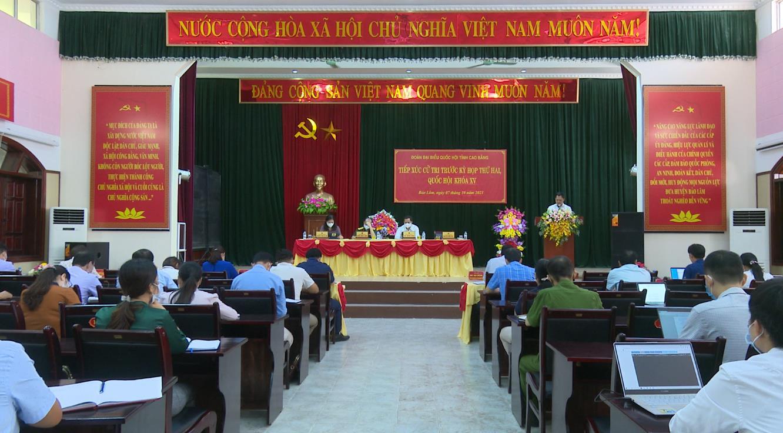 Đoàn đại biểu Quốc hội tỉnh tiếp xúc cử tri huyện Bảo Lâm