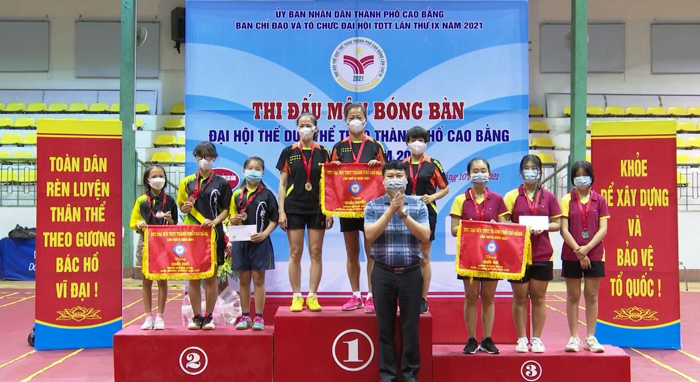 Giải Bóng bàn - Đại hội Thể dục thể thao thành phố Cao Bằng thành công tốt đẹp