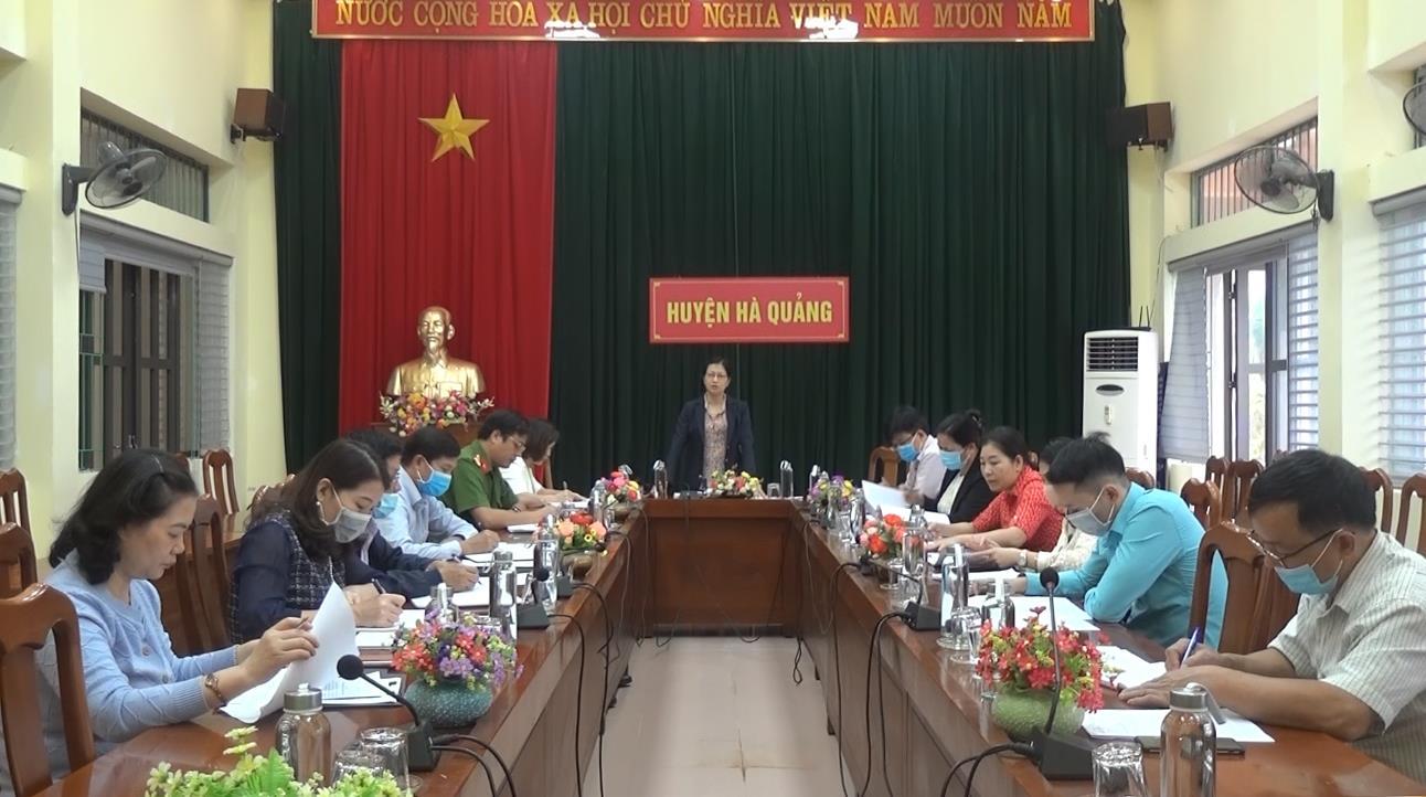 Hà Quảng: Họp Ban Chỉ đạo hiến máu tình nguyện năm 2021