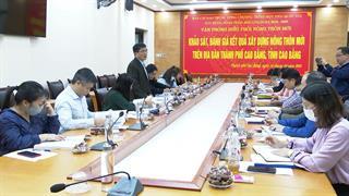 Khảo sát, đánh giá kết quả xây dựng NTM trên địa bàn thành phố Cao Bằng