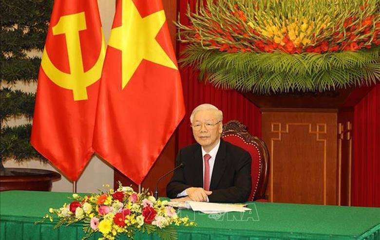 """Tổng Bí thư Nguyễn Phú Trọng gửi Thông điệp tới Hội thảo quốc tế thường niên """"Các chính đảng và một xã hội mới"""""""