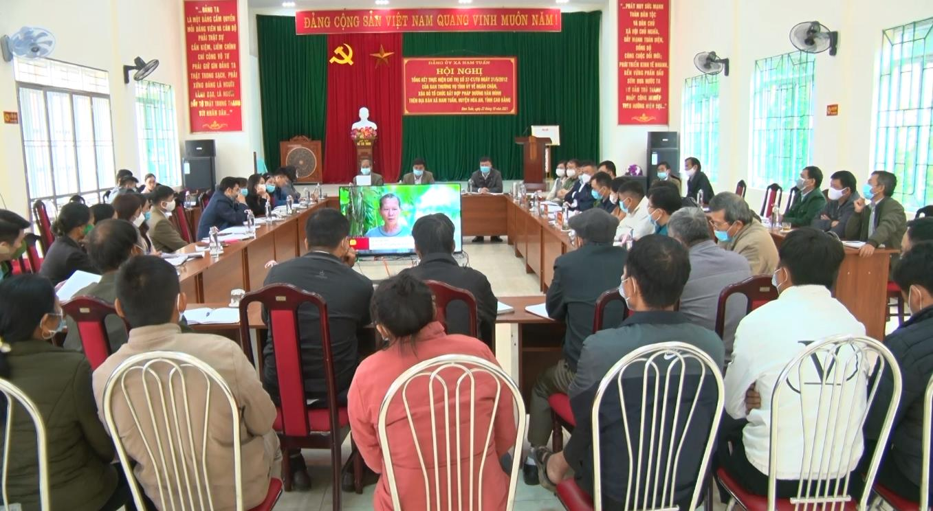 Hòa An: Tổng kết thực hiện Chỉ thị 37-CT/TU của Tỉnh ủy
