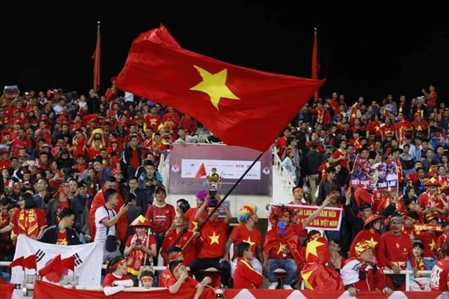 30% khán giả vào sân Mỹ Đình cổ vũ đội tuyển Việt Nam