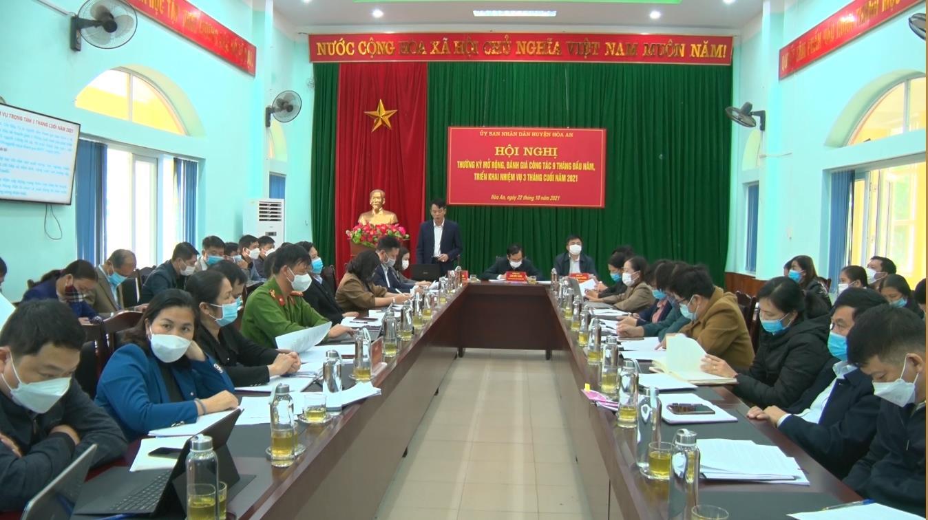 Hòa An: UBND huyện triển khai nhiệm vụ 3 tháng cuối năm 2021