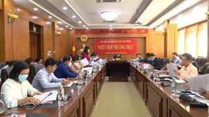 Thường trực HĐND tỉnh họp phiên thường kỳ tháng 10/2021